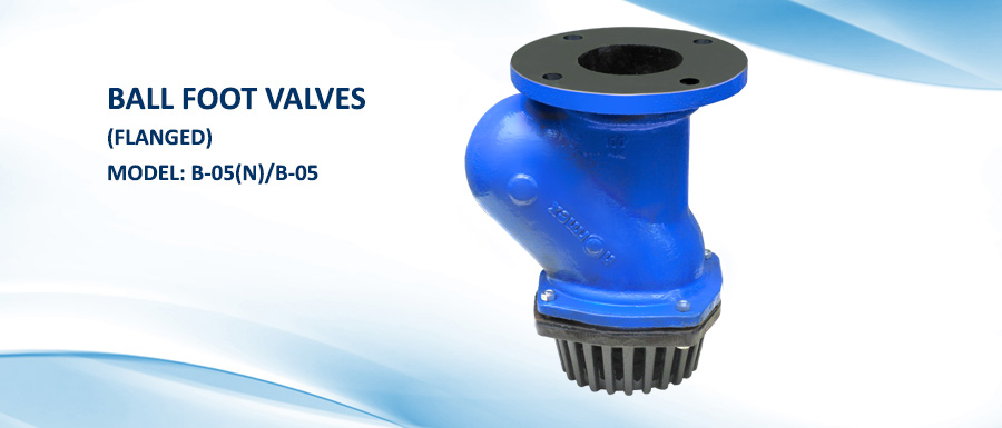 Ball Foot Valves Flanged B 05 N B 05